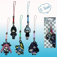 Date A Live anime phone straps(5pcs a set)