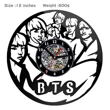 BTS star wall clock