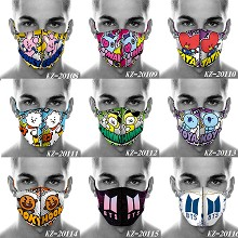 BTS star trendy mask printed wash mask