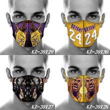 Kobe Bryant trendy mask printed wash mask