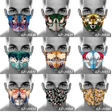 My Hero Academy anime trendy mask printed wash mas...