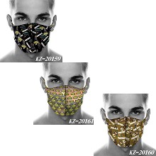 Fortnite game trendy mask printed wash mask