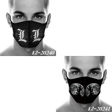 Death Note anime trendy mask printed wash mask