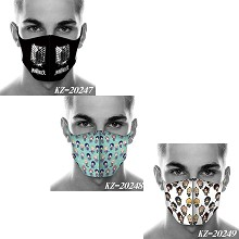 Attack on Titan anime trendy mask printed wash mas...