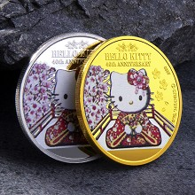 Hello Kitty anime Commemorative Coin Collect Badge...