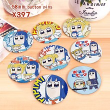 Pop and Pipi anime brooches pins set(8pcs a set)