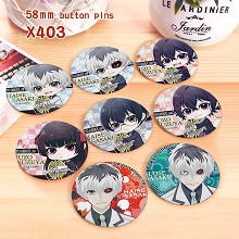 Tokyo ghoul anime brooches pins set(8pcs a set)
