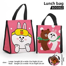 Brown Cony anime lunch bag