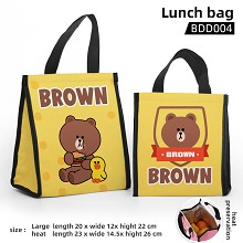 Brown anime lunch bag