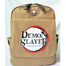 Demon Slayer anime canvas backpack bag