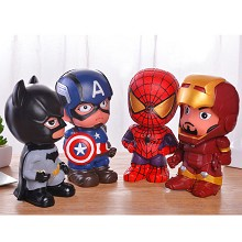 The Avengers Iron man spiderman batman anime figure money box
