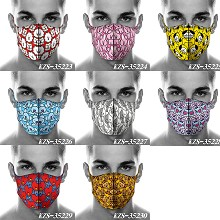 BTS BT21 star trendy mask printed wash mask