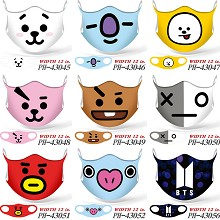 BTS star anime trendy mask printed wash mask