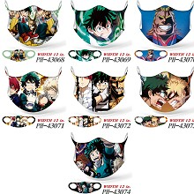 My Hero Academia anime trendy mask printed wash ma...