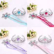 Frozen anime crown+magic wand a set
