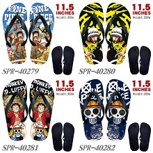 One piece anime flip flops shoes slippers a pair