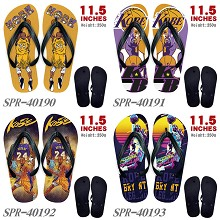 Kobe Bryant flip flops shoes slippers a pair