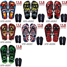 The Avengers flip flops shoes slippers a pair