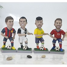 Football star Cristiano Ronaldo Messi resin fiugre