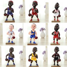 NBA basketball star resin figure