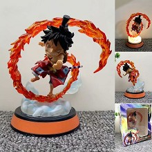 One piece Luffy anime figure can lighting