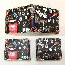 KISS band star wallet