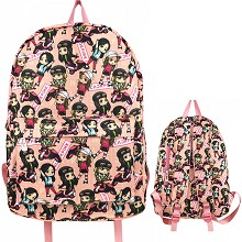 PINK BACK star backpack bag
