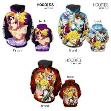 The Seven Deadly Sins anime hoodies cloth