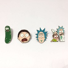 Rick and Morty anime brooch pin