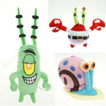 7inches Spongebob Gary Plankton Mr.Crab anime plus...