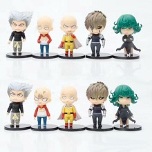One Punch Man anime figures set(5pcs a set)no box