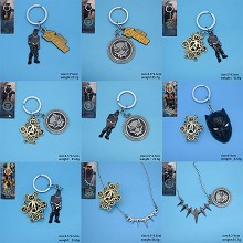 Black Panther movie key chain necklace